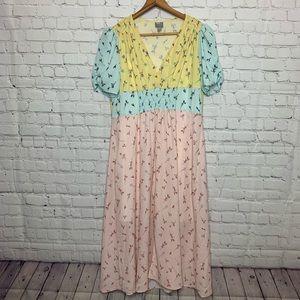 ASOS Multi Colored Midi Dress Size 10